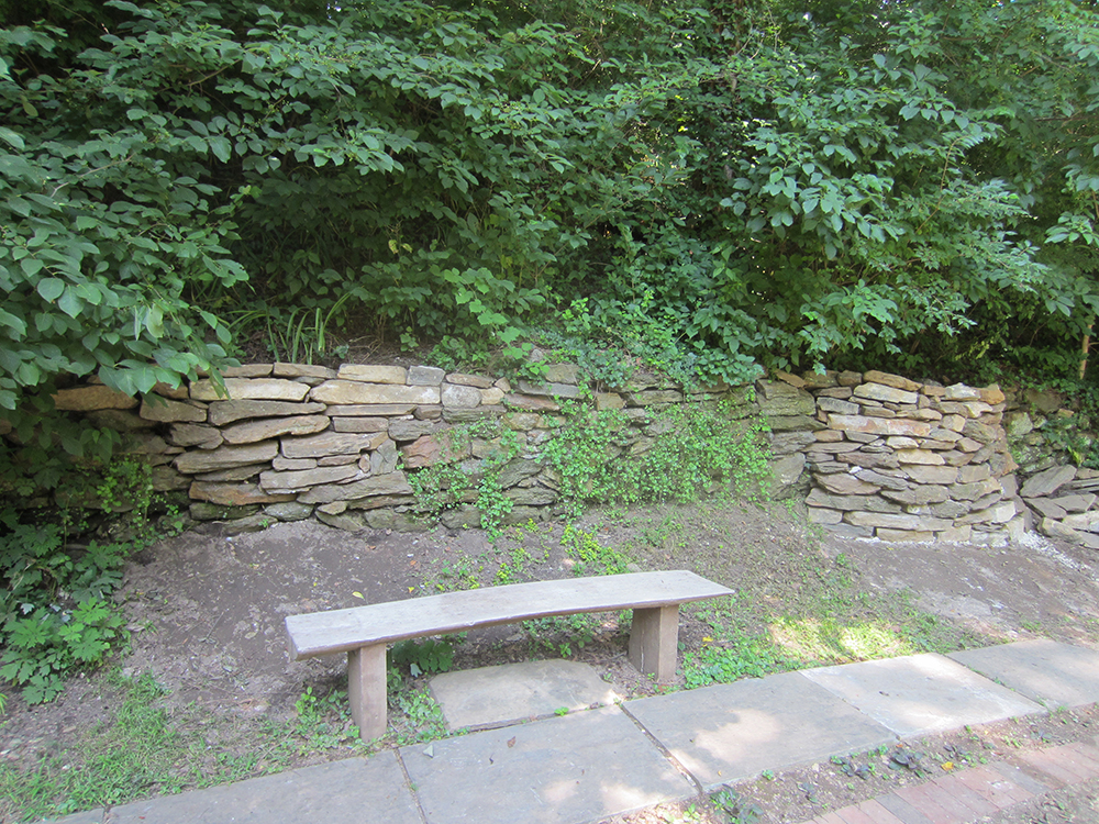 "Ryan's project also included the repair of the stone retaining wall above the Gatehouse ruins. Special thanks to Aaron Smucker of Weaverland Masonry of East Earl, the company that repaired and repointed the ruins for us last year. Aaron was ""magically"" working at the house next door and stopped by to give the Scouts some instructions on how to make their repair secure. And to Traymore, for donating stone from the dry stacked wall that was just removed to completed improvements for that community's last 5 homes."